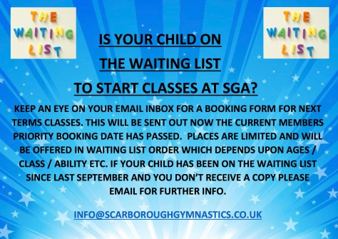 waiting list 2016