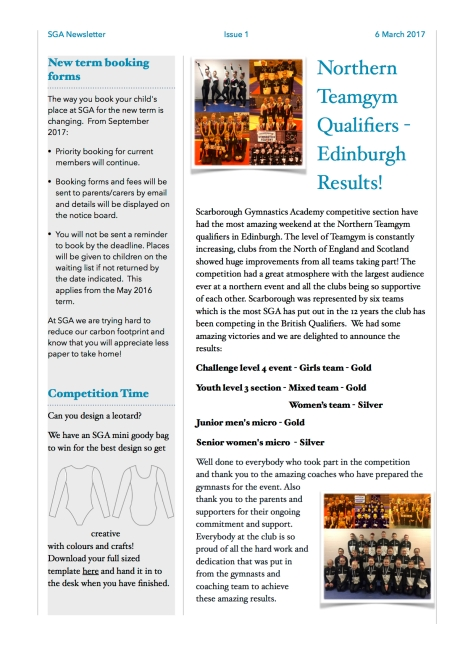 SGA Newsletter March 2017 2