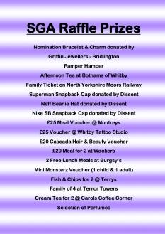 Raffle Prizes 2017 gran canaria 1