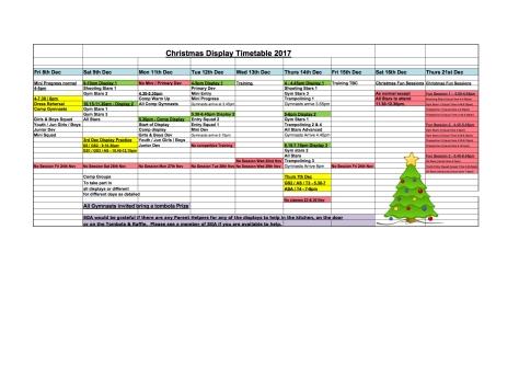 SGA Christmas Display Timetable 2017 (1)